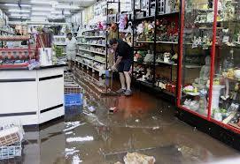 comercio inundado